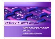 [파워포인트]purple 파워포인트 템플릿