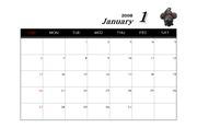 2008년 무자년 달력 (1월~12월)