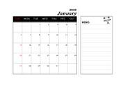2008년 무자년 달력(1월~12월),메모가능
