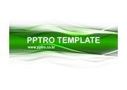 녹색 물결 라인 문양 디자인