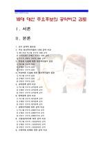 [18대 대선정책 공약비교] 18대 대선 주요후보의 공약비교 검토 - 박근혜 문재인 안철수 후보 -