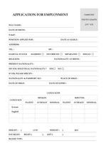 APPLICATION FOR EMPLOYMENT (외항사 CV, cover letter)
