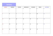 2016년도 달력형 월간계획표 (깔끔한)