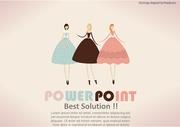 [ppt템플릿] (49) 뷰티,드레스,여성,원피스 파워포인트 배경 디자인 양식 테마