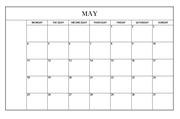 2016년도 달력형 월간계획표 (심플한 달력)