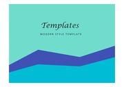 PPT양식 단순한 블루 템플릿