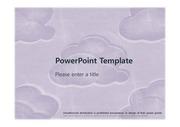 [보라빛 구름무늬 PPT배경] - 하늘 구름무늬 보라색 예쁜 심플한 깔끔한 배경파워포인트 PowerPoint PPT 프레젠테이션
