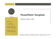 [심플한 검정노랑패턴 PPT배경] - 검정노랑테마 예쁜 심플한 깔끔한 배경파워포인트 PowerPoint PPT 프레젠테이션