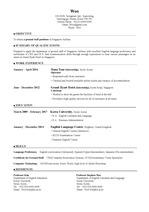 [싱가폴 항공] Resume for Singapore Airlines (항공사 이력서, 승무원 커버레터, 승무원 이력서, 외항사 이력서, 승무원 cv)