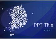 [PPT템플릿] 블루톤 심플한 PPT 템플릿 (대한민국, 지도, 심플)