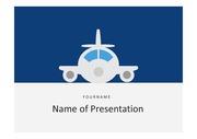 PPT양식 비행기, 항공 교통 주제에 어울리는 템플릿