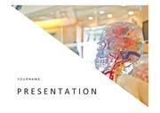 해골PPT, 해골 두뇌 해부 사람 머리 두뇌 의료 프레젠테이션 템플릿