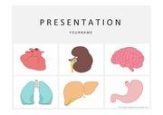 의료PPT 인체장기 심장 위 뇌 간 허파 질환 의학 건강 의사 간호 헬스케어 질병 프레젠테이션 템플릿