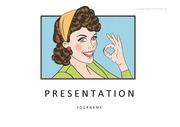 만화PPT 빈티지 코믹 설명 예쁜 심플한 깔끔한 PPT템플릿