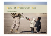 PPT양식 템플릿 배경 - 전쟁, 군인, 난민1