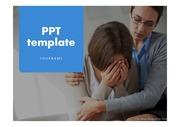 우울PPT우울 상담 카운슬링 심리학 슬픔 고통 정신건강 프레젠테이션 템플릿