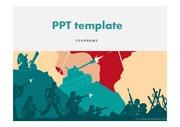전쟁PPT 전쟁 세계안보 국가안보 핵전쟁 테러 프레젠테이션 템플릿
