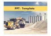산업PPT 건설 중장비 건축 PPT템플<strong>릿</strong>