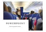 비행기PPT템플릿 항공 기내 항공학과 기내서비스 기내안전 비행기 공항