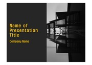 PPT양식 템플릿 배경 - 건축물, 현대건축1
