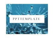 물PPT 생명과학 수자원 수자원 에너지 액체 물 바이오 템플릿