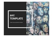 심리학PPT 얼굴 표정 군중 대중 인간관계 인간심리 인간의얼굴 얼굴 템플릿