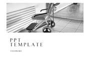 휠체어PPT 장애인 재활 의료 PPT템플릿