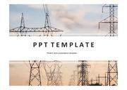 송전탑PPT 전기 송전탑 발전소 전력 송전 전자파 PPT템플릿
