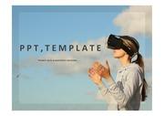가상현실PPT 가상현실 가상훈련시스템 VR 가상현실콘텐츠 가상현실서비스 주제에어울리는 PPT템플릿