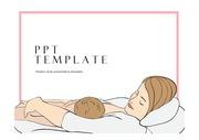 출산PPT 임신 출산 산모 아기양육주제에 잘 어울리는 템플릿