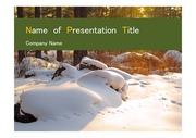 PPT양식 템플릿 배경 - 깔끔, 러시아, 모스크바,눈내리는 풍경2