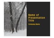 PPT양식 템플릿 배경 - 깔끔, 러시아, 모스크바,눈내리는 풍경1