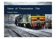 PPT양식 템플릿 배경 - 러시아, 기차