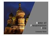 PPT양식 템플릿 배경 - 러시아, 모스크바, 정교회2