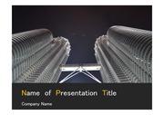 PPT양식 템플릿 배경 - 말레이시아,현대건축물, 트윈타워4