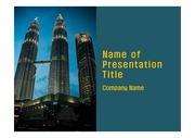 PPT양식 템플릿 배경 - 말레이시아,현대건축물, 트윈타워7