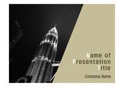 PPT양식 템플릿 배경 - 말레이시아,현대건축물, 트윈타워1