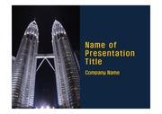 PPT양식 템플릿 배경 - 말레이시아,현대건축물, 트윈타워9