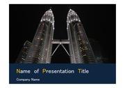 PPT양식 템플릿 배경 - 말레이시아,현대건축물, 트윈타워5
