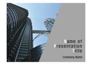 PPT양식 템플릿 배경 - 말레이시아,현대건축물, 트윈타워2