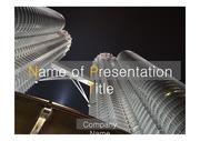 PPT양식 템플릿 배경 - 말레이시아,현대건축물, 트윈타워3