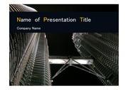 PPT양식 템플릿 배경 - 말레이시아,현대건축물, 트윈타워6