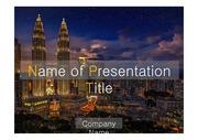 PPT양식 템플릿 배경 - 감각적, 말레이시아, 도시야경3