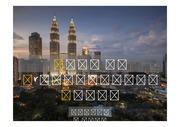 PPT양식 템플릿 배경 - 감각적, 말레이시아, 도시야경1