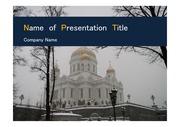 PPT양식 템플릿 배경 - 러시아,모스크바, 풍경2
