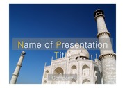 PPT양식 템플릿 배경 - 서양건축사, 인도, 타지마할1