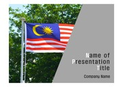PPT양식 템플릿 배경 - 말레이시아, 국기