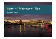 PPT양식 템플릿 배경 - 호주, 시드니, 도시풍경2