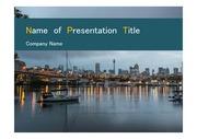 PPT양식 템플릿 배경 - 호주, 시드니, 도시풍경3