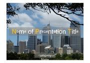 PPT양식 템플릿 배경 - 호주, 시드니, 도시풍경1